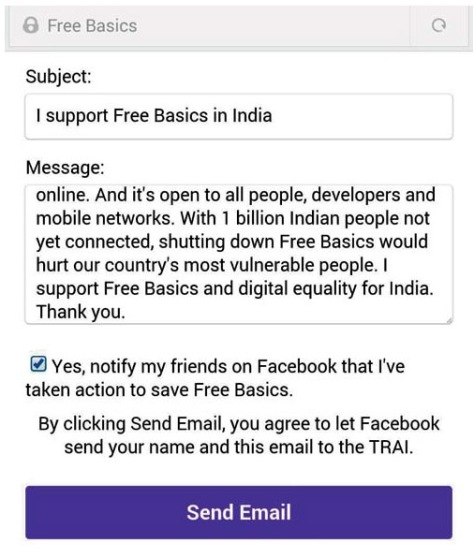 FREEBASICS FACEBOOK MESSAGE