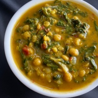 CHANA DAL PALAK | SPINACH WITH SPLIT CHICKPEAS